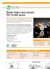 Model PO 70-400 series - Positive Displacement Rotary Vane Pumps Brochure