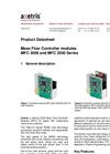 MFC 2000 and MFC 2200 Series - Mass Flow Controller Modules Datasheet