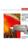 Gericke Type GBM Paddle Batch Mixer Brochure