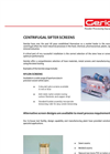 Centrifugal Sifter Screens Brochure