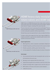 HDMF and BSMF Valves - Datasheet