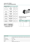 Model ISO 5599/1 - Pneumatically Operated Control Valve Brochure