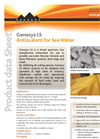 Genesys - Model LS - Antiscalant for Sea-water Systems Datasheet