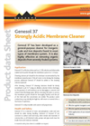 Genesol - Model 37 - Strongly Acidic Membrane Cleaner Datasheet