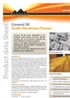 Genesol - Model 38 - Acidic Membrane Cleaner Datasheet