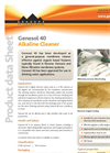 Genesol - Model 40 - Alkaline Cleaner Datasheet