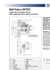 INTEC - Model K204-S-D - Two-Piece Split Body Soft Seated Steam Ball Valve Brochure