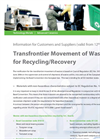 Waste Recovery- Brochure