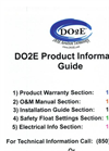 DO2E Product Information - Guide