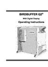 BirdBuffer - Q2 - With Digital Display Operating Instructions Manual