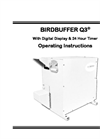 BirdBuffer Q3 Operating Manual w/ digital battery clock