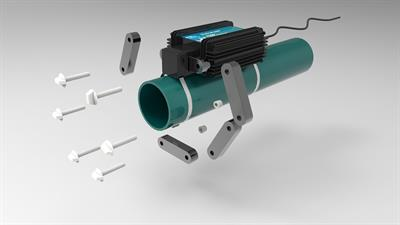 HydroFlow AquaKlear - Model P Range - Limescale Remover Pipe Fitting System for Cooling Towers