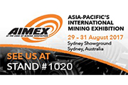 Verder is representing at AIMEX (stand 1020) in Sydney from 29th to 31st August 2017