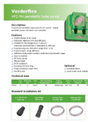 Model VP2-PH - Peristaltic Tube Pump Datasheet