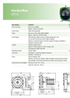 Verderflex - Model VF15 - Peristaltic Hose Pumps - Metric Datasheet
