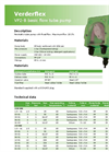 Verderflex VP2-B Basic Peristaltic Flow Tube Pump Datasheet