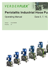 Verderflex  - Dura 5, 7, 10, 15, 25, 35 - Peristaltic Industrial Hose Pump Operating Manual