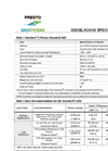 Geoblock2 Specification Summary - Brochure