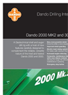 Dando - 2000 MK2 and 3000 MK2 - Geotechnical Drilling Rigs - Brochure