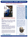 Hydrotron - Model HWF Series - Ducted Wet Type Dust Collector Brochure