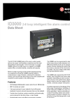 Model ID3000 - 2-8 Loop Intelligent Fire Alarm Control Panel - Technical Datasheet