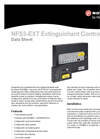 NFS3-EXT - Single Area 3 Zone Extinguishing Control Panel - Datasheet