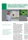 Rapid Lead (Pb) Analysis of Solder Plating on Semiconductor Leadframes (pdf) Brochure