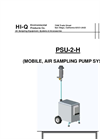 Model PSU-2-H - Mobile, Air Sampling Pump System - Operation Manual