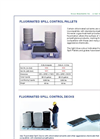 Spill Pallets Fluorinated - Lt. Blue Brochure