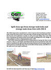 OSEI storage tank clean up information