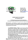 Marine Toxicity tests, 35 test on OSE II