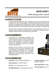 Model HTHP - Viscometer Brochure