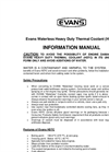 Evans Waterless Heavy Duty Thermal Coolant (HDTC) Information Manual