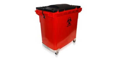Model 200 Gallon - Red Medical Waste Containers- Cart