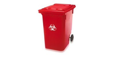 Model 96 Gallon - Red Medical Waste Containers- Cart