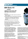 BHV - Echo 111 - Ultrasonic Level Meter - Brochure