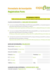 Forestry Expobiomasa Registration Form