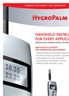 Handheld Instruments for Climate Measurement - HygroPalm21 Data Sheet Brochure