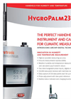 Handheld Instruments for Climate Measurement - HygroPalm23 Data Sheet Brochure