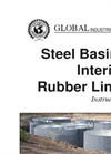 Steel Basins Interior Rubber Liner Instructions Manual