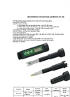 Model CP-105 - Waterproof Pocketsize pH-Meter Brochure