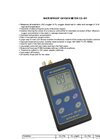 Model CO 411 - Waterproof Oxygen Meter Brochure