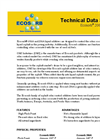 Ecosorb - Model 206A & 606A - Odor Eliminator Liquid Additives Technical Datasheet