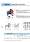 Explosion-Proof Stationery Fans — WPW-3/Ex Brochure