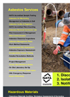 Asbestos and Hazardous Materials Services - Brochure