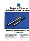 Geonor - Model M-610 Series - Embedment type Vibrating Wire Sensors - Brochure