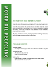 Motor Oil Recycled Service – Brochure