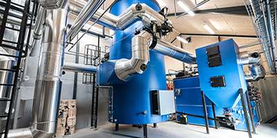 Model 1,000 - 15,000kW - Wood Chips Heating Plant