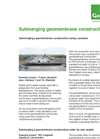 Submerging Geomembrane Constructions  - Brochure
