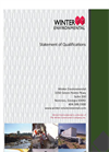 Winter Environmental Company Profile Brochure